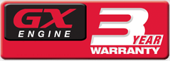 3 años de garantía para los motores Honda de las series GX/GXV
