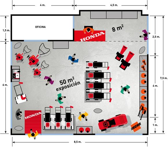 Planta Exposición Distribuidor Oficial Honda