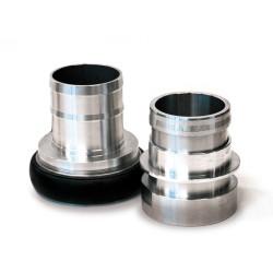 Racor rápido aluminio Ø75